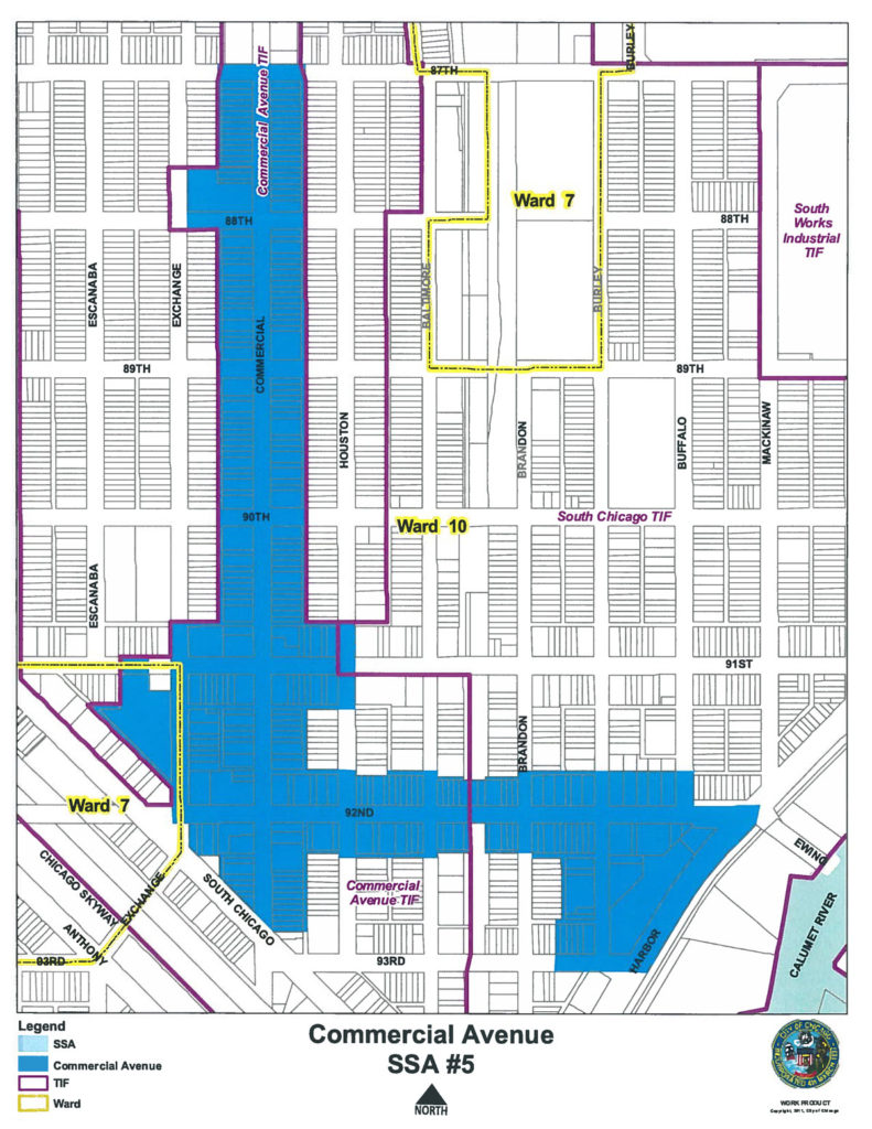 Commercial Avenue SSA #5 map